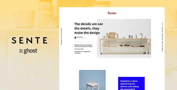 Sente - Magazine Ghost Blog Theme