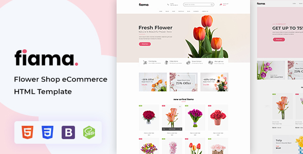 Review: Fiama - Flower Shop eCommerce HTML Template free download Review: Fiama - Flower Shop eCommerce HTML Template nulled Review: Fiama - Flower Shop eCommerce HTML Template