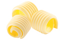 Butter curls rolled up, a group of three,  isolated - PhotoDune Item for Sale