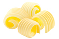 Butter curls rolled up, a group of four,  isolated - PhotoDune Item for Sale