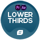 Lower Thirds   Dots Generator   MOGRT - VideoHive Item for Sale
