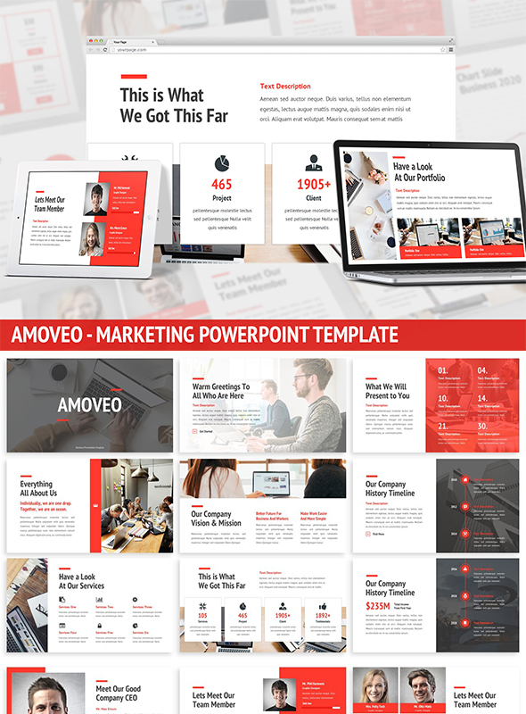 Amoveo - Marketing Powerpoint Template