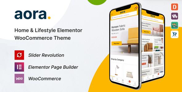 Aora - Home & Lifestyle Elementor WooCommerce Theme