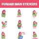 Punjabi Man Sticker Set - GraphicRiver Item for Sale