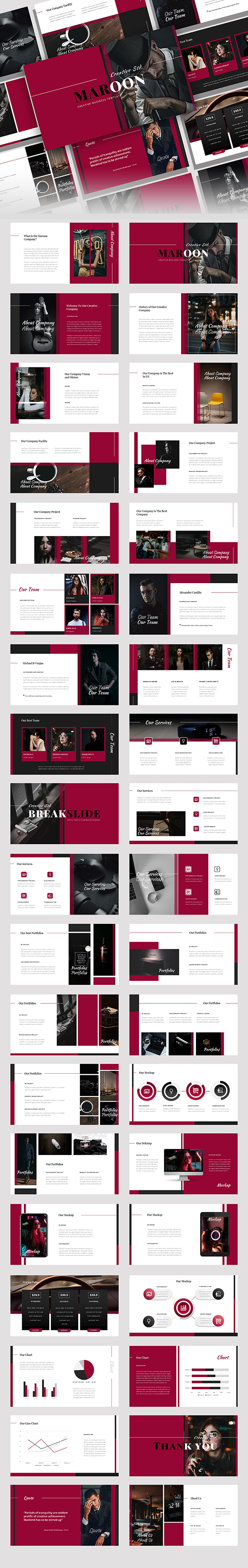 Maroon – Creative Business Keynote Template