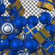 Christmas Balls Transition - Blue and Yellow - VideoHive Item for Sale