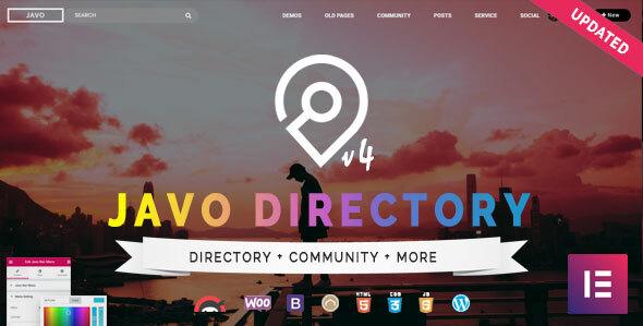 Javo Directory WordPress Theme