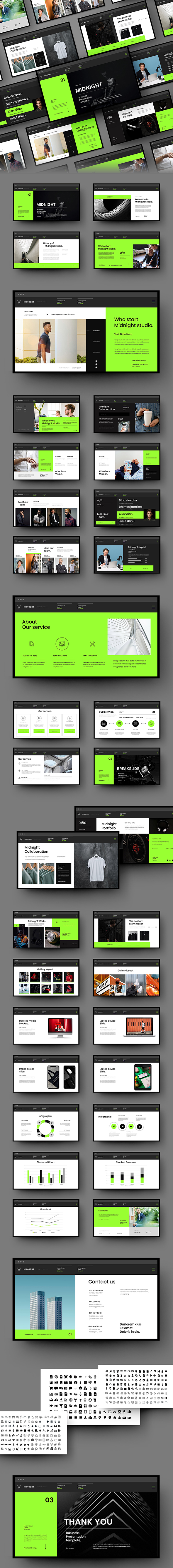Midnight – Business PowerPoint Template