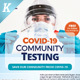 Covid-19 Testing Flyer Templates - GraphicRiver Item for Sale