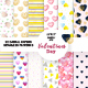 Watercolor Valentines Digital Papers, Seamless Pattern - GraphicRiver Item for Sale