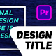 Titles Design Pack - VideoHive Item for Sale