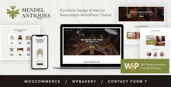 Mendel | Furniture Design & Interior Restoration WordPress Theme