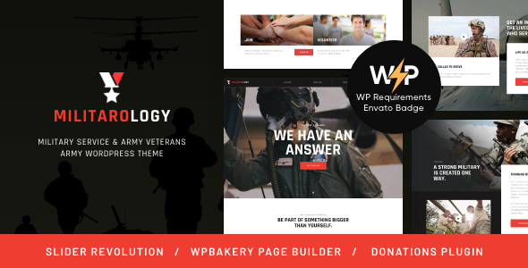 Military Service & Army Veterans Army WordPress Theme