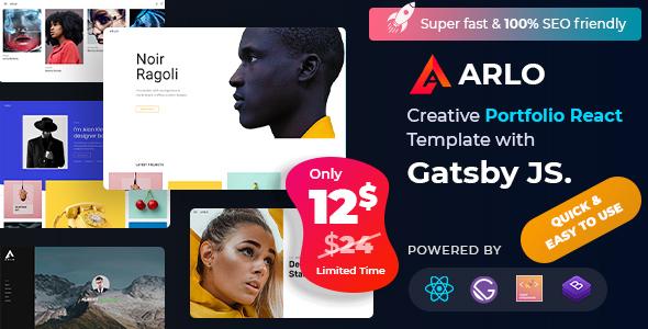 Arlo – Personal Portfolio React Template