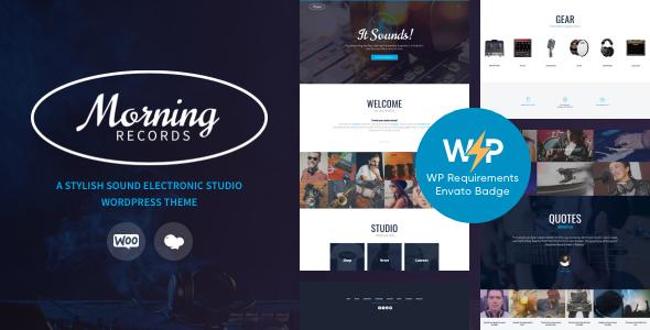 Morning Records - A Stylish Sound Electronic Studio WordPress Theme