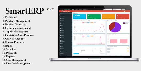 SmartERP - Business ERP Solution / Product / Shop / Company Management