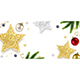 Christmas Greeting Card with Sparkling Stars and Spruce Branches - GraphicRiver Item for Sale