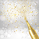 Golden Bottle of Champagne with Confetti - GraphicRiver Item for Sale