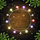 Christmas Background with Multicolored Glowing Garland - GraphicRiver Item for Sale