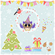 Christmas Set with Owl - GraphicRiver Item for Sale