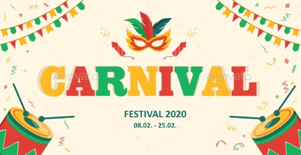 Carnival Advertising Banner with Copy Space