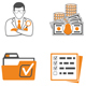 Auditing, Tax, Accounting Two Color Icons Set - GraphicRiver Item for Sale