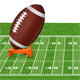 American football field with ball - GraphicRiver Item for Sale