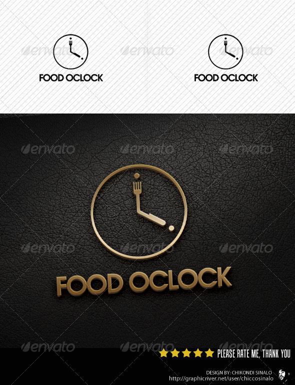 Food Oclock Logo Template