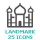 Landmark Mini Icon - GraphicRiver Item for Sale