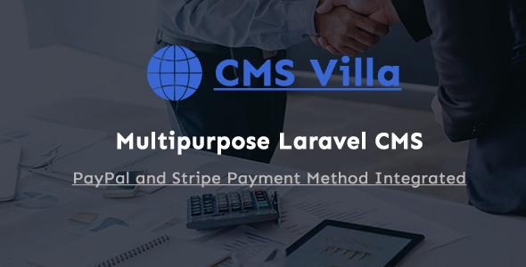 CMS Villa - Multipurpose Laravel Business Website
