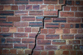 Cracked Red Brick Wall - PhotoDune Item for Sale