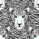 Pattern with Tiger Muzzle - GraphicRiver Item for Sale