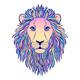 Lion Muzzle on White - GraphicRiver Item for Sale