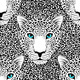 Pattern with Leopard Muzzle and Leopard Fur - GraphicRiver Item for Sale