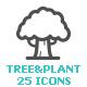 Tree & Plant Mini Icon - GraphicRiver Item for Sale