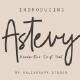 Astevy Handwritten Script Font - GraphicRiver Item for Sale