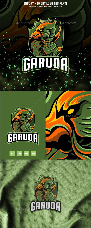 Garuda Esport and Sport Logo Template