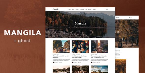 Mangila — Minimalistic and Elegant Ghost Blog Theme