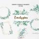 Watercolor Eucalyptus Wreath Frame Clipart - GraphicRiver Item for Sale