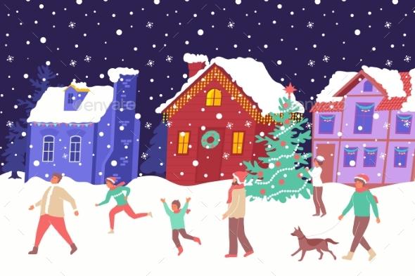 Christmas House Lights Composition