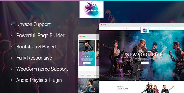 Hyphoria - Rock Band WordPress Theme