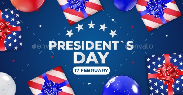 Holiday Background with Balloons for USA President