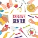 Creative Center with Art Craft Work Children - GraphicRiver Item for Sale