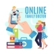 Online Medicine Family Doctor at Mobile Vector - GraphicRiver Item for Sale