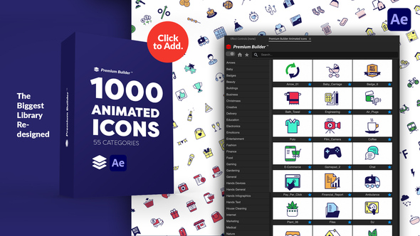 PremiumBuilder Animated Icons