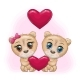 Couple of Cartoon Teddy Bear with Eyes - GraphicRiver Item for Sale