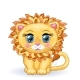 Cartoon Lion with Big Eyes - GraphicRiver Item for Sale