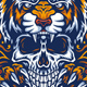 Tiger With Skull - GraphicRiver Item for Sale
