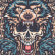 Wolf With Skull - GraphicRiver Item for Sale