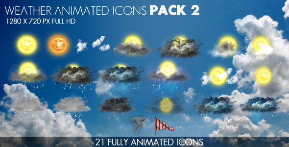Weather Icons Pack Video Effects & Stock Videos from VideoHive